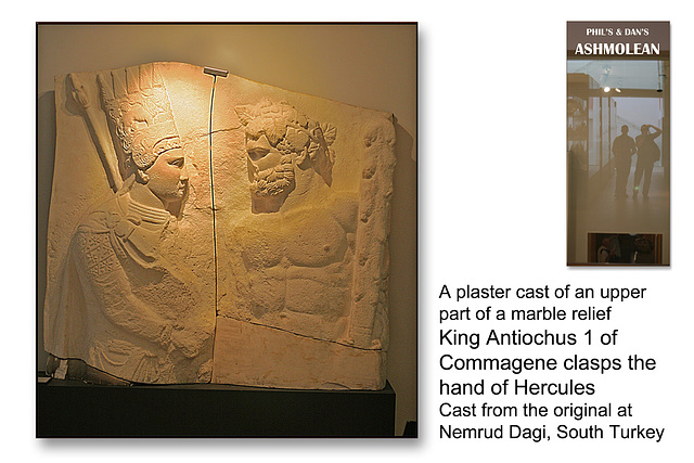 Antiochus & Hercules plaster cast Dagi, S Turkey  - The Ashmolean Museum - Oxford - 24.6.2014