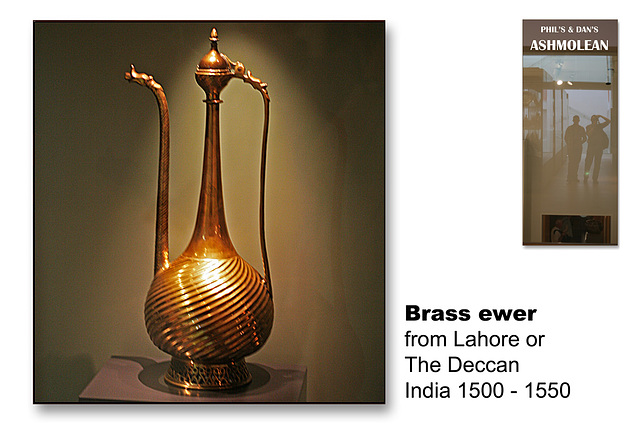 Brass ewer India c1525 - The Ashmolean Museum - Oxford - 24.6.2014