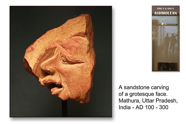Grotesque face - Mathura, India - c200AD - The Ashmolean Museum - Oxford - 24.6.2014