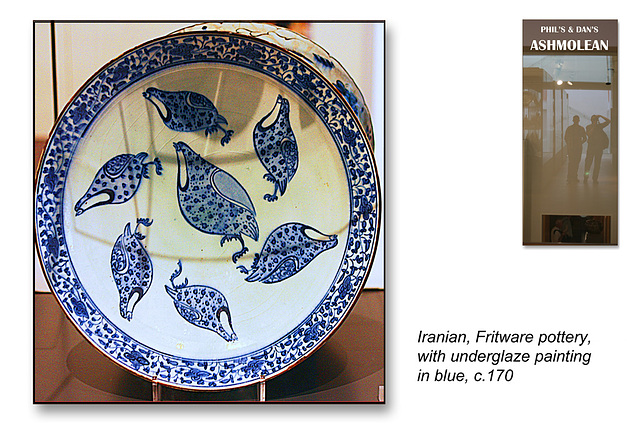 Iranian Fritware dish with quails c170  - The Ashmolean Museum - Oxford - 24.6.2014