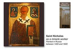 Saint Nicholas - Russian icon - 1400-1600  - The Ashmolean Museum - Oxford - 24.6.2014