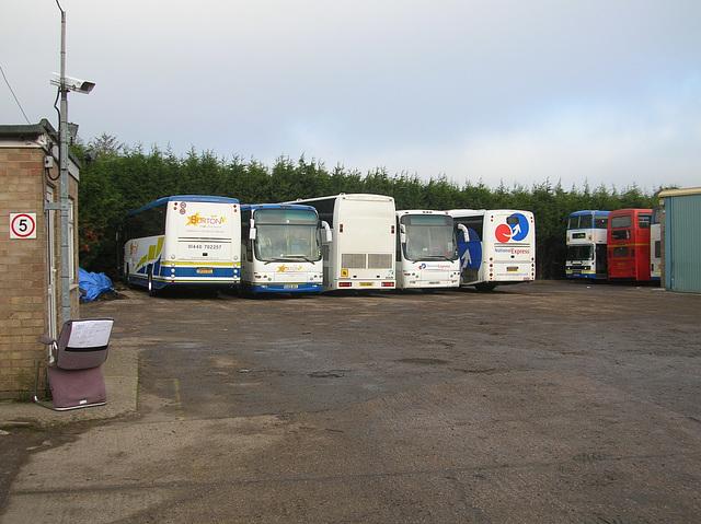 DSCN1241 Burtons Coaches line up at Haverhill
