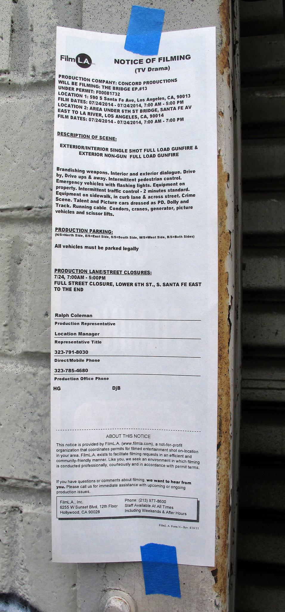 Los Angeles Film Notice (0318)