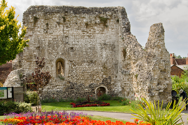 Gardens and remains of castle walls