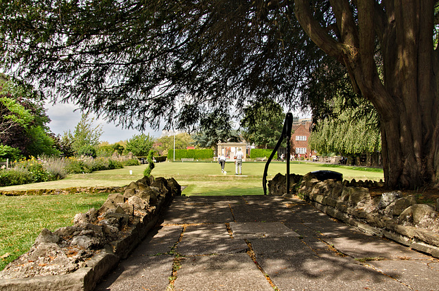 The bowling green - Guildford Castle gardens