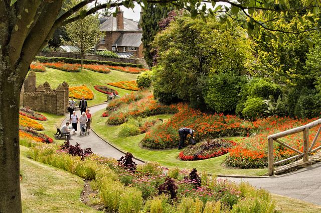 Guildford Castle gardens summer 2014