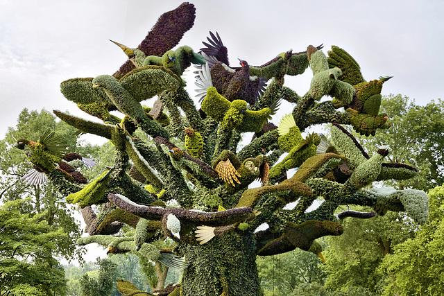 The Bird Tree #1 – Mosaïcultures Internationales de Montréal, Botanical Garden, Montréal, Québec