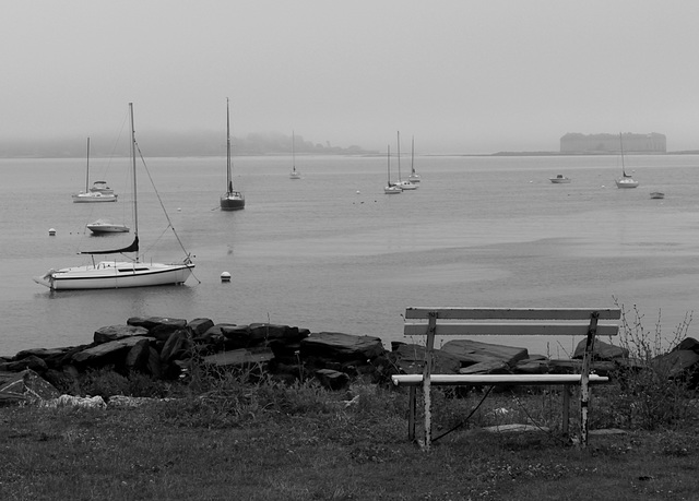 Bench, Casco Bay