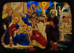 Fragment: Anbetung der HL drei Könige