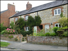 stone and brick cottages