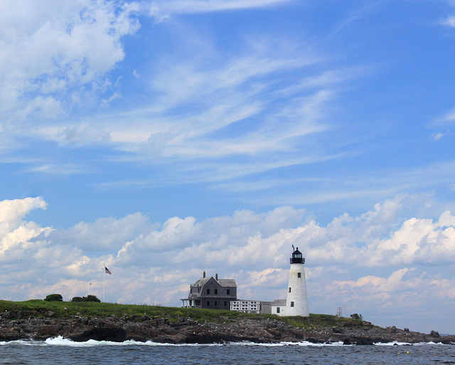 Clouds and Wood Island Light