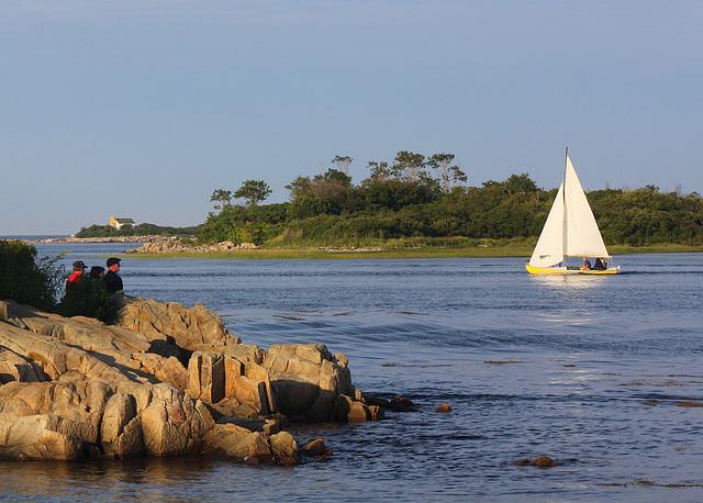Sailors and spectators, Cape Porpoise
