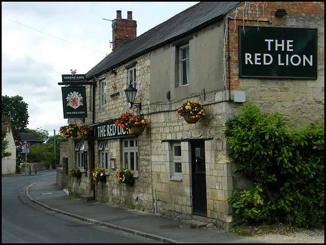 The Red Lion, at Old Marston