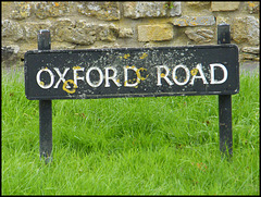 Oxford Road sign