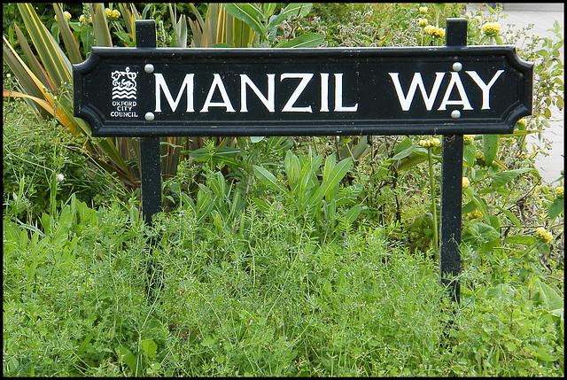 Manzil Way sign