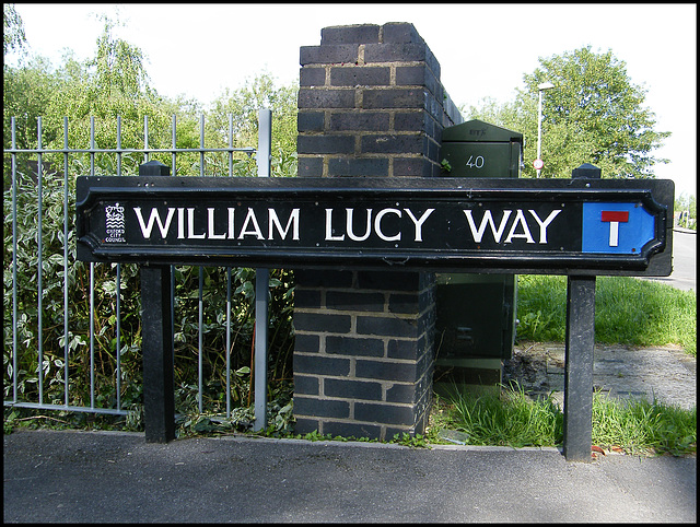 William Lucy Way sign