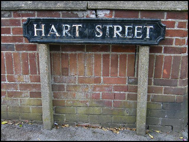Hart Street sign