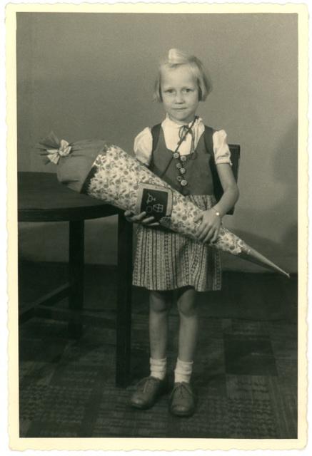 Eine kleine Erinnerung an meinen erster Schultag, 1949