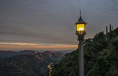 Desde el monasterio abadía de Montserrat