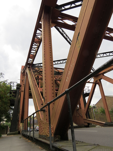 bridge, western entrance , shadwell basin, london docks