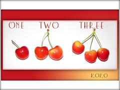1, 2, 3 cherries