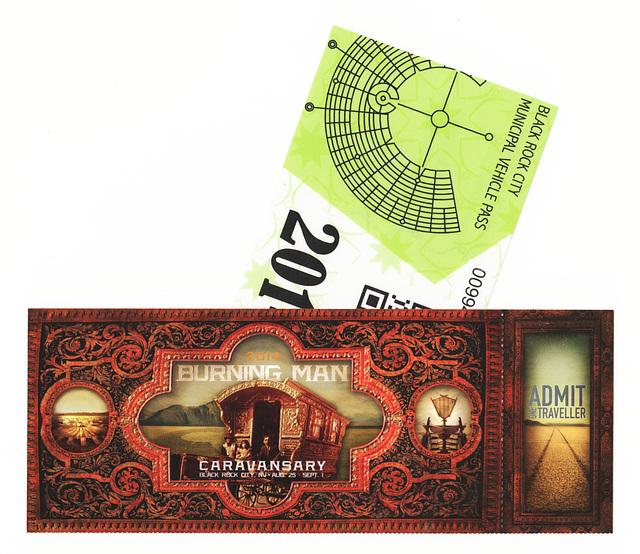 Burning Man 2014 ticket