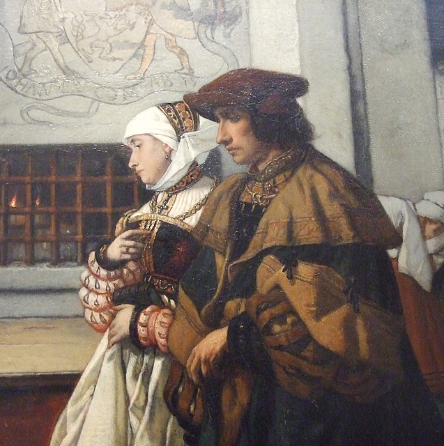 Detail of Faust and Marguerite by Leys in the Philadelphia Museum of Art, January 2012