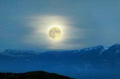 Vollmond über Monte Baldo. ©UdoSm