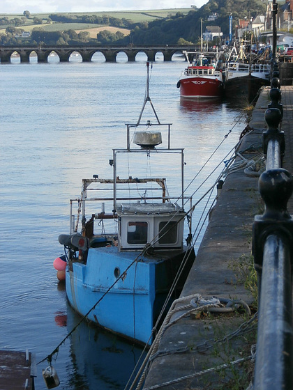 Some of the boats moored up along the quayside