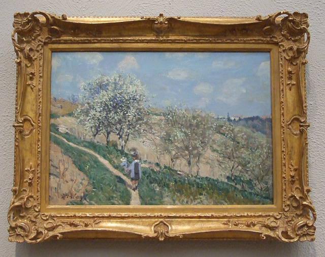 Landscape by Sisley in the Philadelphia Museum of Art, January 2012