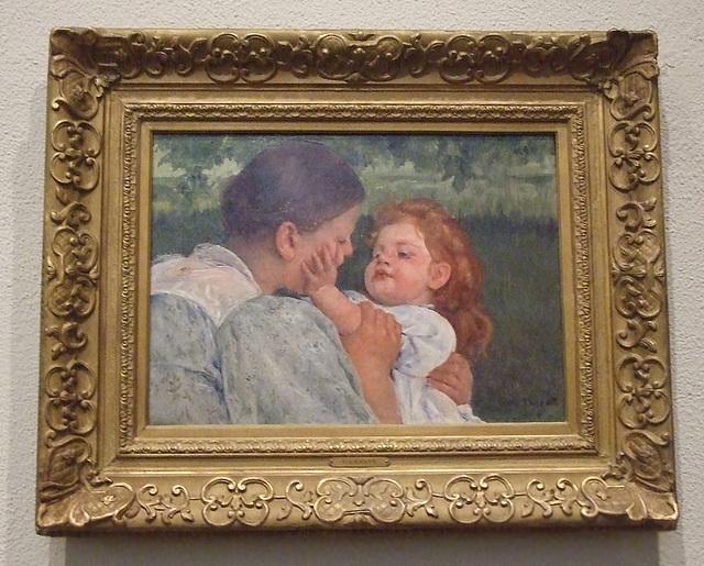 Maternal Caress by Mary Cassatt in the Philadelphia Museum of Art, August 2009