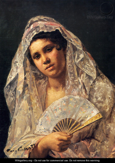 Spanish Dancer Wearing A Lace Mantilla, Mary Cassatt