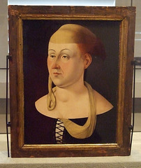 Portrait of a Woman Attributed to Jacometto Veneziano in the Philadelphia Museum of Art, August 2009