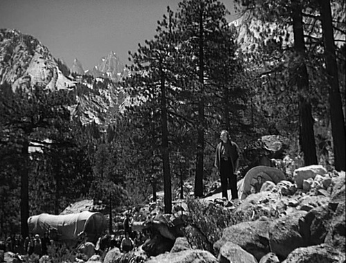Dean Jagger playing Brigham Young in the Sierra above Lone Pine
