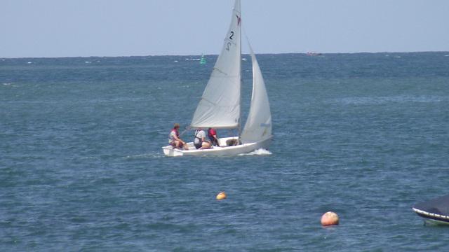 A family enjoying their sailing