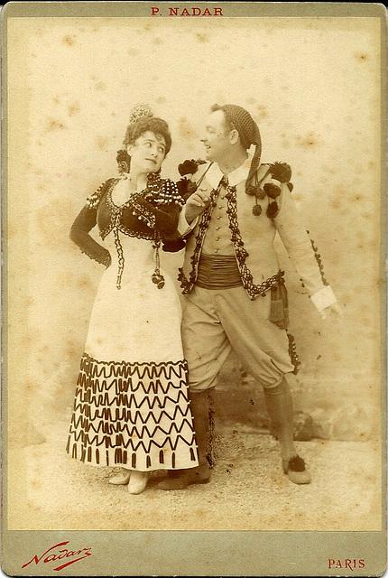 Lucie Bertrand & Jean Bartet by Nadar