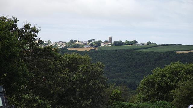 A small village on the horizon