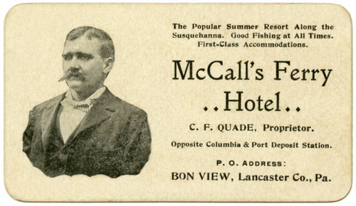 McCall's Ferry Hotel, Bon View, Lancaster County, Pa.