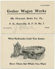 Gruber Wagon Works, Mt. Pleasant, Berks County, Pa.