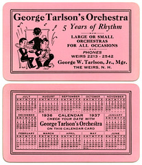 George Tarlson's Orchestra, The Weirs, N.H., 1936