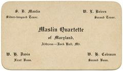 Maslin Quartette of Maryland, Rock Hall, Md.