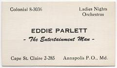 Eddie Parlett, the Entertainment Man