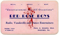 Red Rose Boys, Radio, Vaudeville, and Dance Entertainers