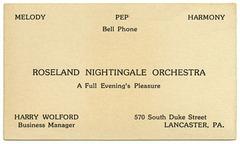 Roseland Nightingale Orchestra, Melody, Pep, Harmony