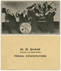 W. R. Shaw, Violin and Banjoist, Pennsylvania Syncopators