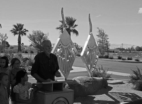 Dedication of Steven Rieman Sculpture at DHS Health & Wellness Center (0204)
