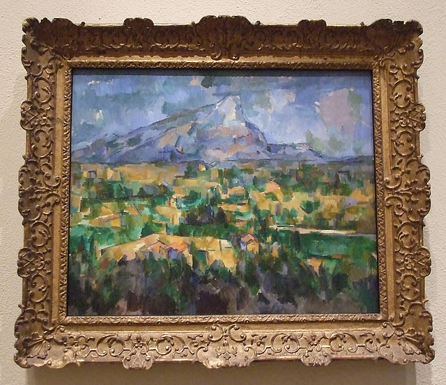 Mont Sainte-Victoire by Cezanne in the Philadelphia Museum of Art, August 2009