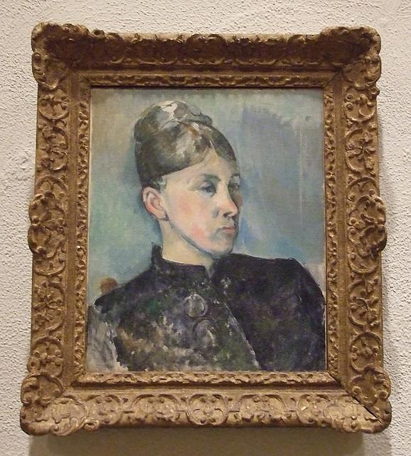 Portrait of Madame Cezanne by Cezanne in the Philadelphia Museum of Art, January 2012