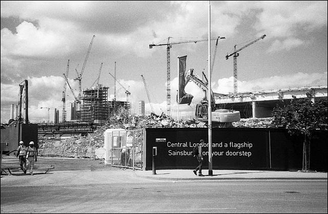 Sainsbury's demolition, Vauxhall. London SW8.