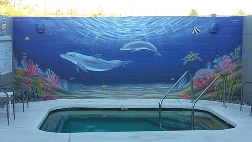 Dog Spa ocean mural